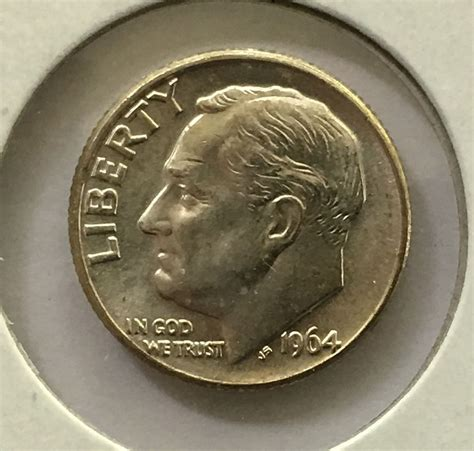 1964 D Roosevelt Dime From Roll BU - for sale, buy now