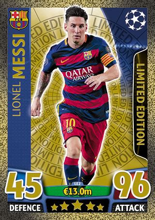 Limited Edition • Single Match Attax • Champions League 15