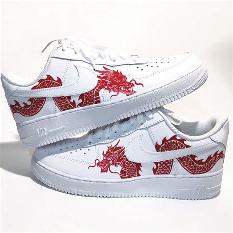 custom dragon Air Force 1's ( hand painted )/ size