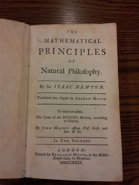 THE MATHEMATICAL PRINCIPLES OF NATURAL PHILOSOPHY BY ISAAC