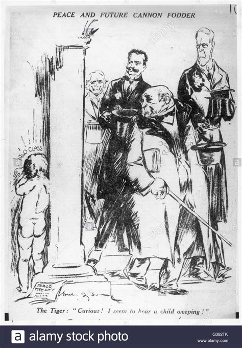 'Peace and future cannon fodder' - a cartoon of 1920 by