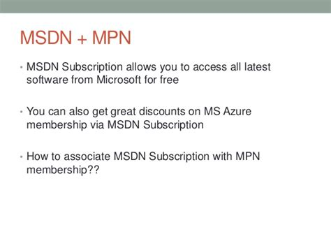 How to Get Free MSDN License from MPN Network