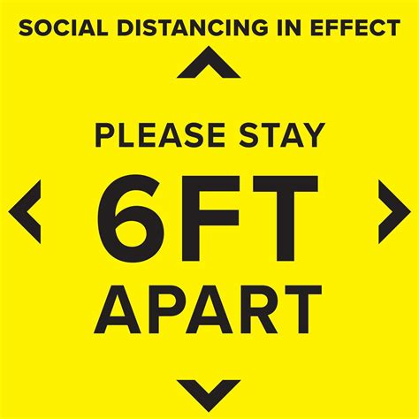 Social Distancing Floor Decal   Non-Slip Self-Adhesive Decal