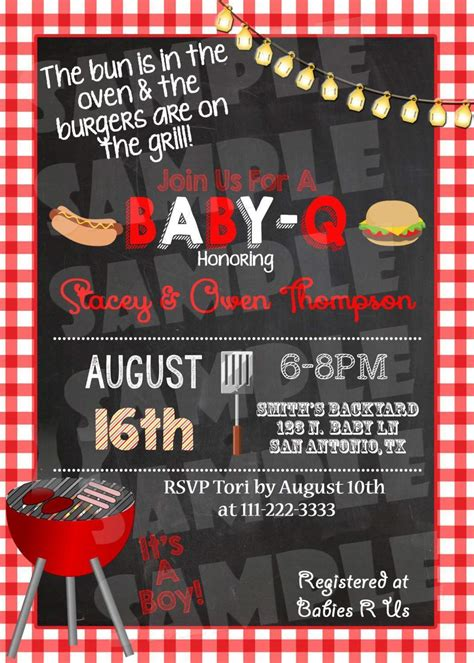 BBQ Baby Shower Invitation - Forever Fab Boutique