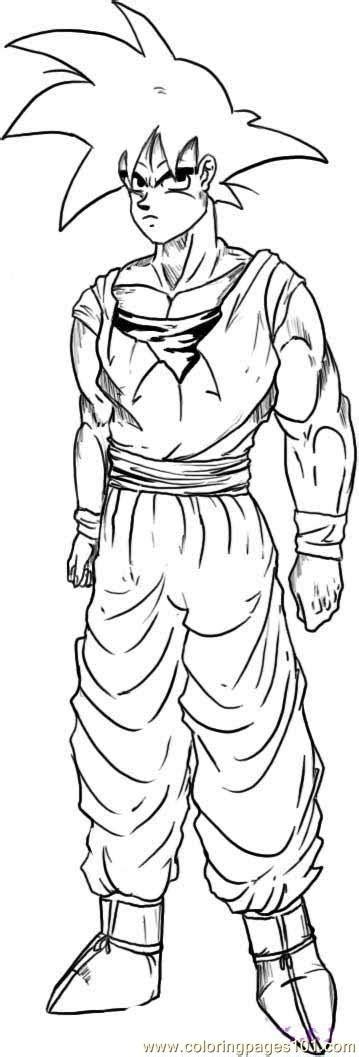 Goku Step 6 Coloring Page - Free Goku Coloring Pages
