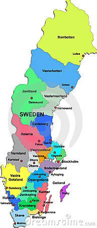 Sweden Map On A White Background Royalty Free Stock
