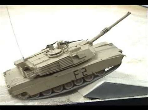 RC Conversion Kit for Tamiya 1/35 M1A1, M1A2 Tank - YouTube