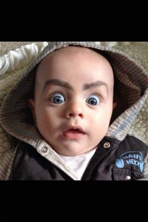 Babies With Funny Eyebrows - FunCage