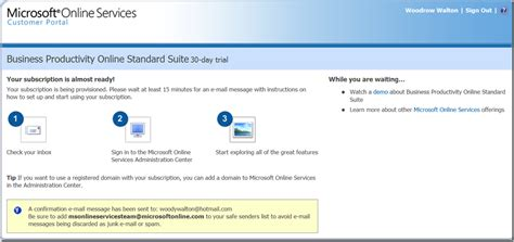 Want to demonstrate BPOS to customers?–As a Microsoft