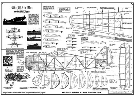 FW-190 A3 Plans - AeroFred - Download Free Model Airplane