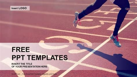 Professional Runner-Sports PowerPoint Templates