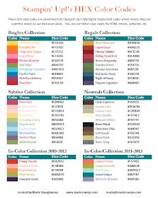 Stamping Inspiration: HEX COLOR CODES FILE SHARE